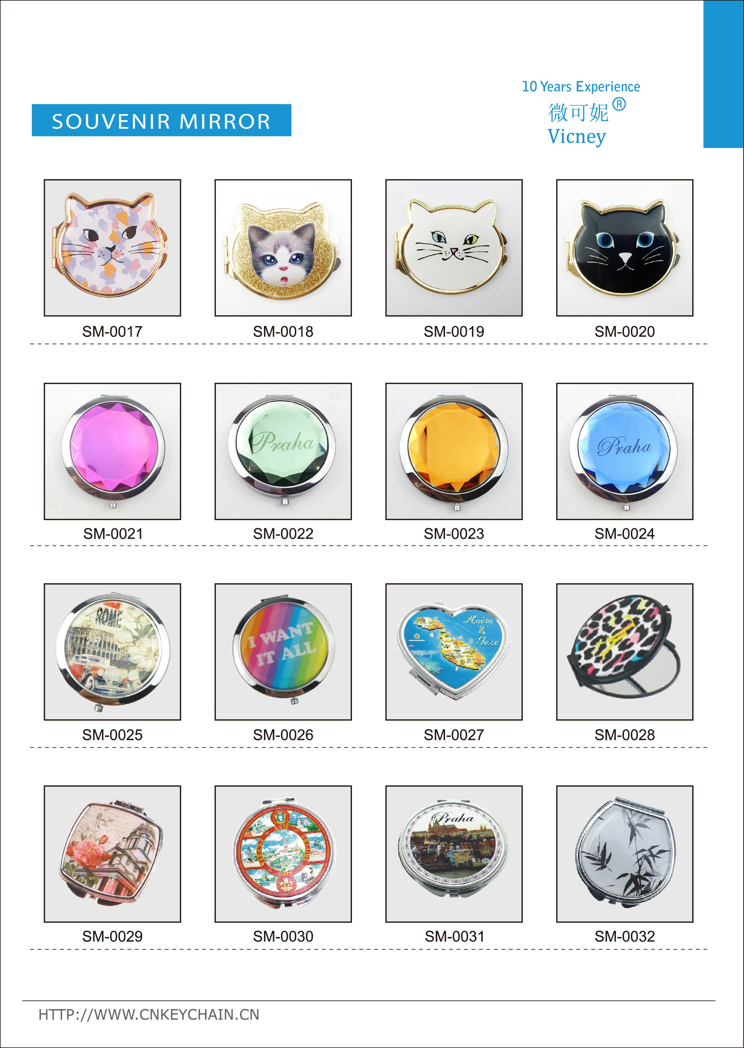 NAN-94 Yiwu Lifeng wholesale convenient daily makeup pocket mirror