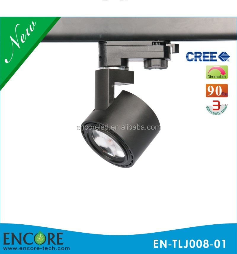 8W 30W 50W Round Gallery Museum Jewellery Shops Tracking Light 3000K CRI 93 Juno LED Track Lighting