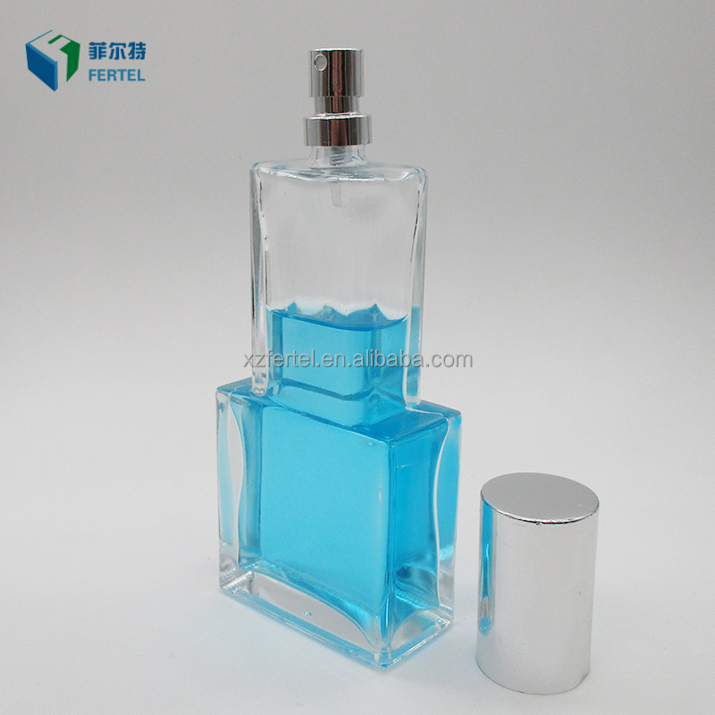 80Ml Special Classic Square Cologne Perfume Glass Bottle For Man