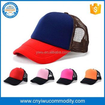 96e39868c88e3 custom eco friendly cheap high profile kids trucker cap embroidery  distressed flat bill infant mesh snapback