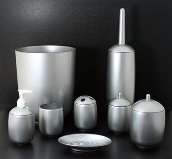 bathroom accessories sets silver. Silver Painted Luxury Acrylic Bathroom Accessories/Sets Accessories Sets