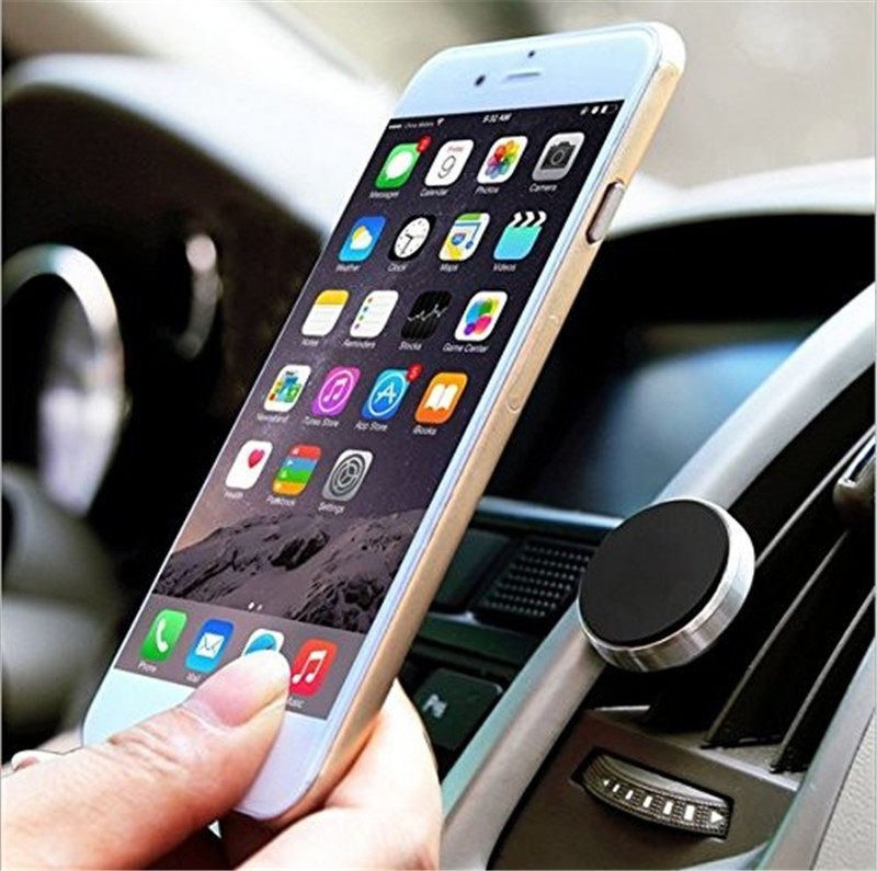 fba shipping car magnetic air vent phone holder for iphone mobile phone ipad tablet magnet holder print logo free