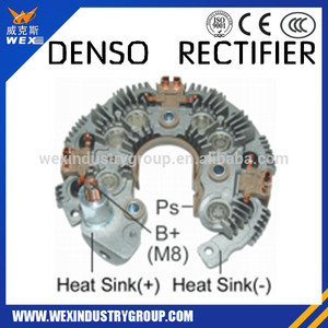 Alternator rectifier supplier / 12-50Amp Diodes,134mm OD DENSO 104210-6101,104210-600 7C3T-10300EE MOBILERTON RN-6
