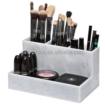 Factory Direct Sale Marble Acrylic Makeup Brush Holder For Display , Buy  Marble Makeup Brush,Acrylic Brush Holder,Makeup Brush Holder Product on