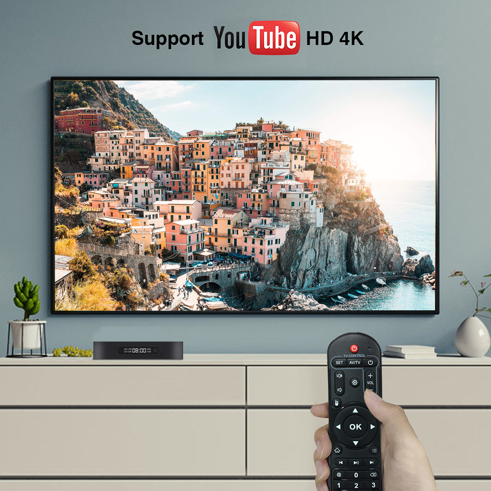 ENYBOX Android 9.0 Set Top Box 2.4ghz 5.8ghz AC Wifi 4k