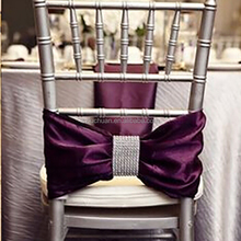 Graceful Purple Fancy Wedding Decoration Sashes Chair Cover
