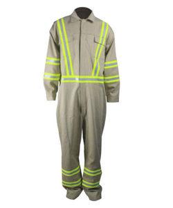 Worker Uniform Men Safety Work Workwear Reflective Stripe Coverall