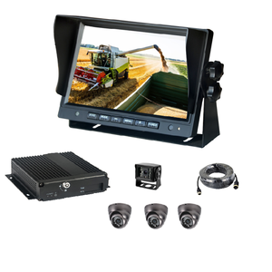 4CH SD card MDVR with RJ45 port monitor and 4pcs 720P camera no 3g 4g gps and wifi