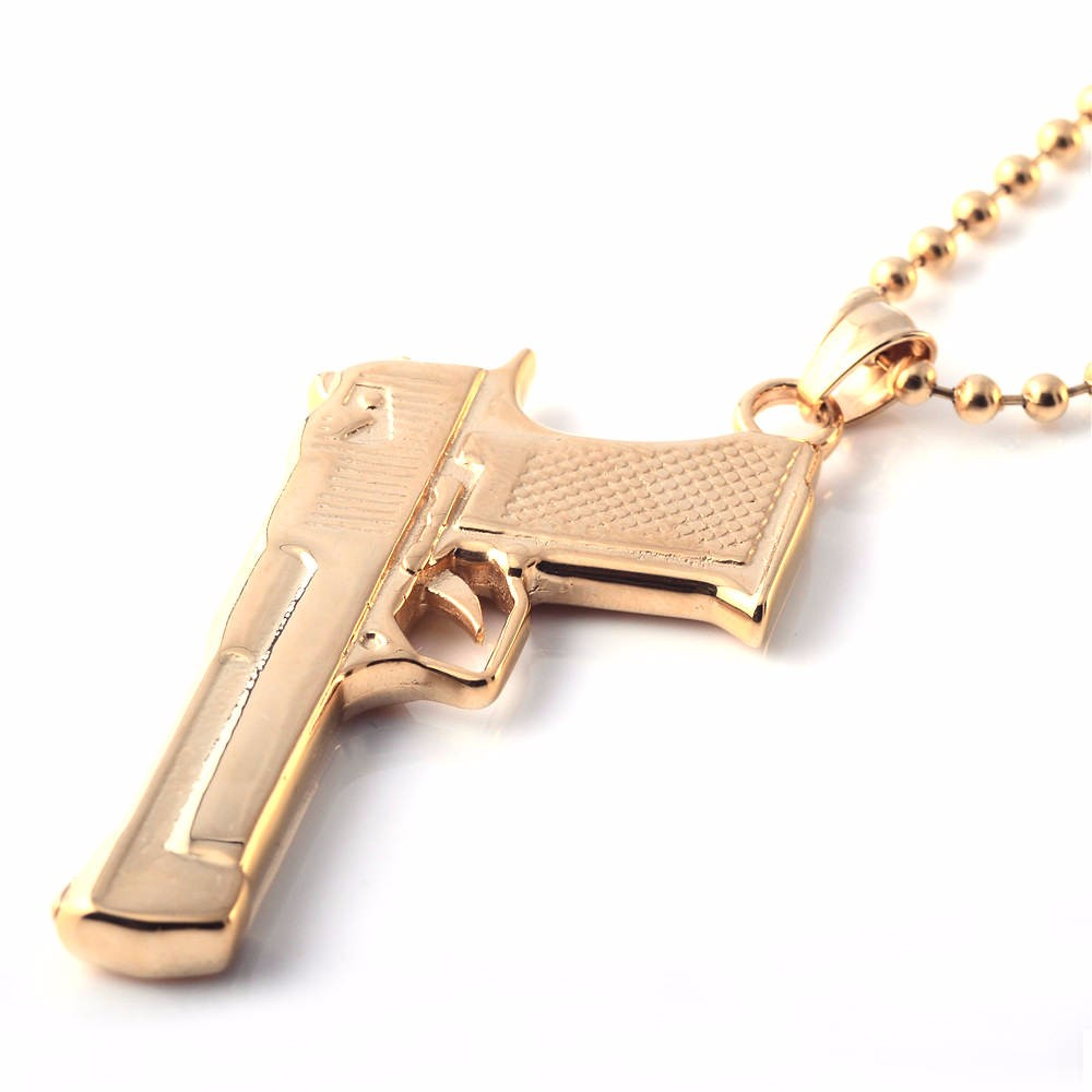 2017 new desigh quality rose gold gun custom logo pendant buy 2017 new desigh quality rose gold gun custom logo pendant aloadofball Image collections