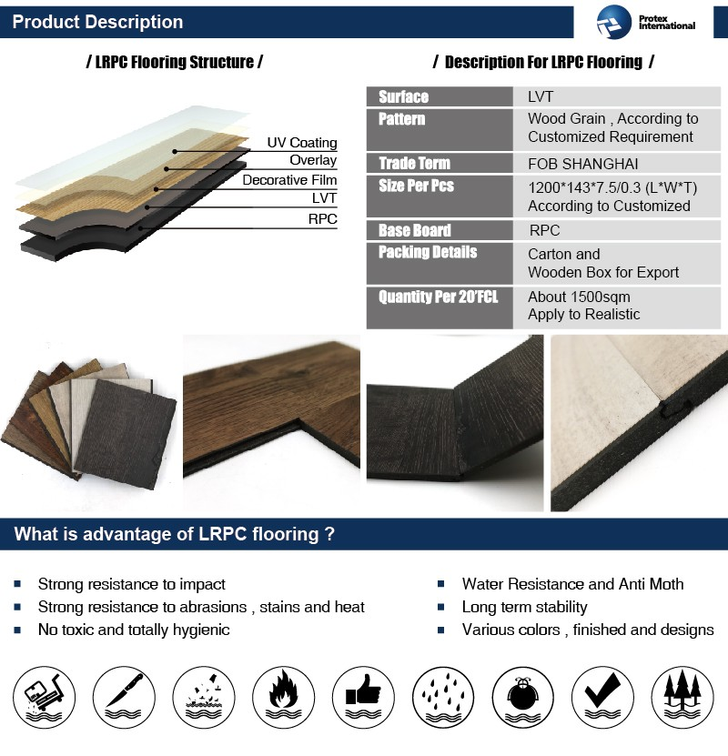 Multifunctional wood look vinyl flooring with great price