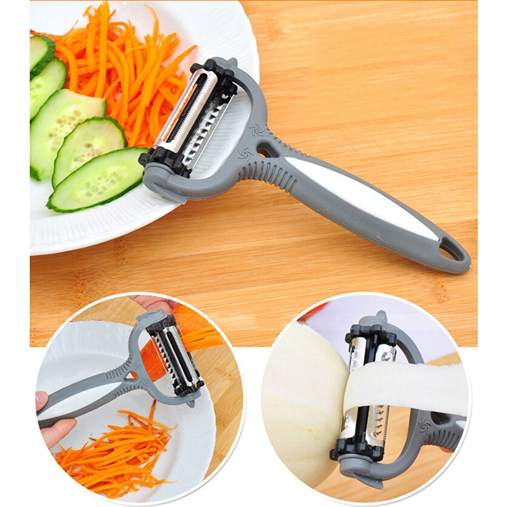 Multifunctional 360 Degree Rotary Carrot Potato Peeler Melon Gadget Vegetable Fruit turnip Slicer Cutter Kitchen Cookig Tools