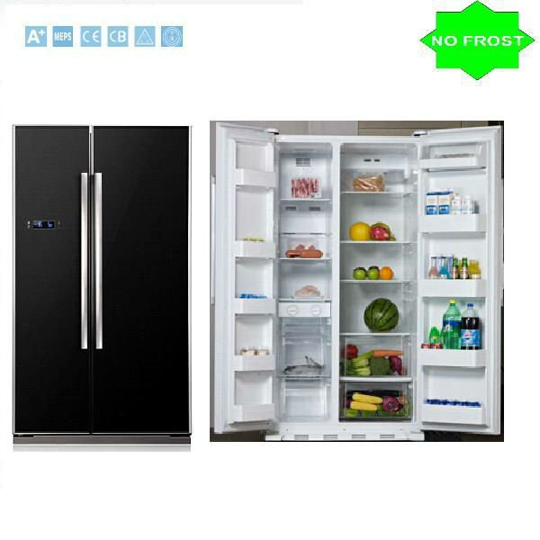 Bcd-537 Frost Free Side By Side Refrigerator ( Black Glass Door ...
