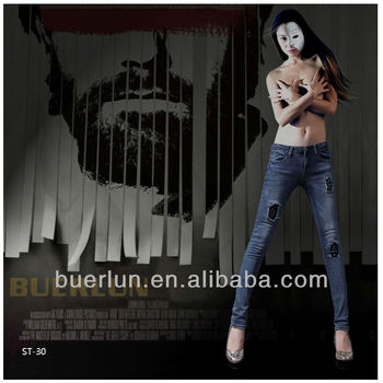 Hot Sales Fashion Able Denim Jeans Pent Oem China Garment Factory ...