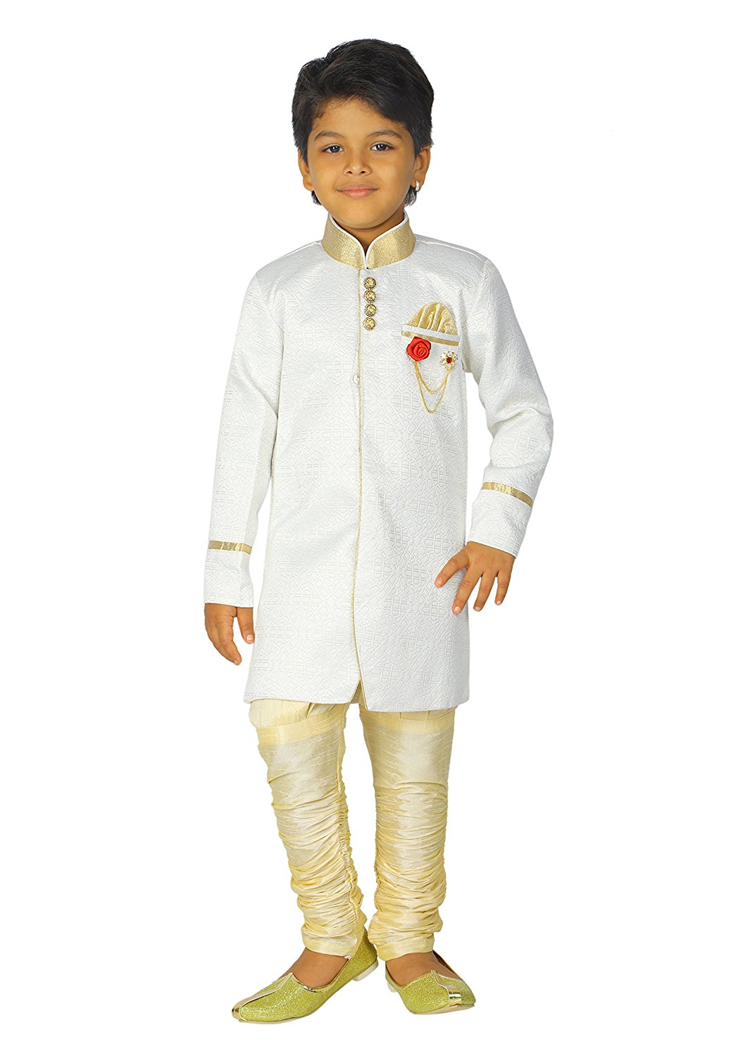 e0b586e3a18 ahhaaaa Kids Indian Ethnic Bollywood Style Festive and Party Wear Sherwani  and Breaches For Boys