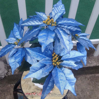 Poinsettia Silk Flower Stem Artificial Ornamental Plants Buy Artificial