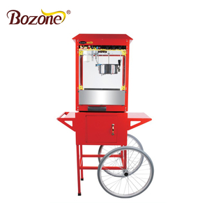 Good Price 8 Oz Non-stick Industrial Snack Making China Automatic Electric Hot Air Commercial Popcorn Machine With Wheels