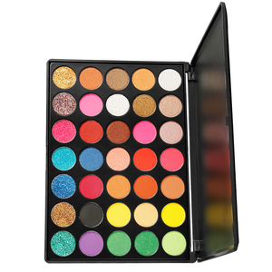 Private Label Make up Palette Shimmer Glitter Eyeshadow Palette 35 Colors available wholesale Eye Makeup Bright colors