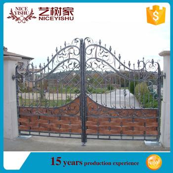 Iron Fancy Gate Boundary Wall Gate Designbeautiful Residential
