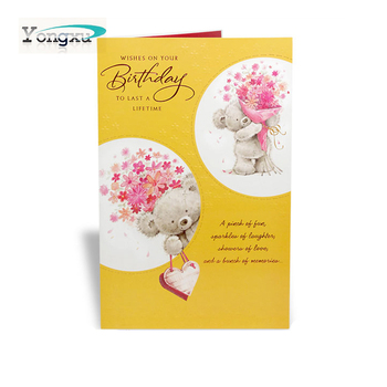 Free Sample Top Grade Wholesale Happy Birthday Custom Greeting Cards