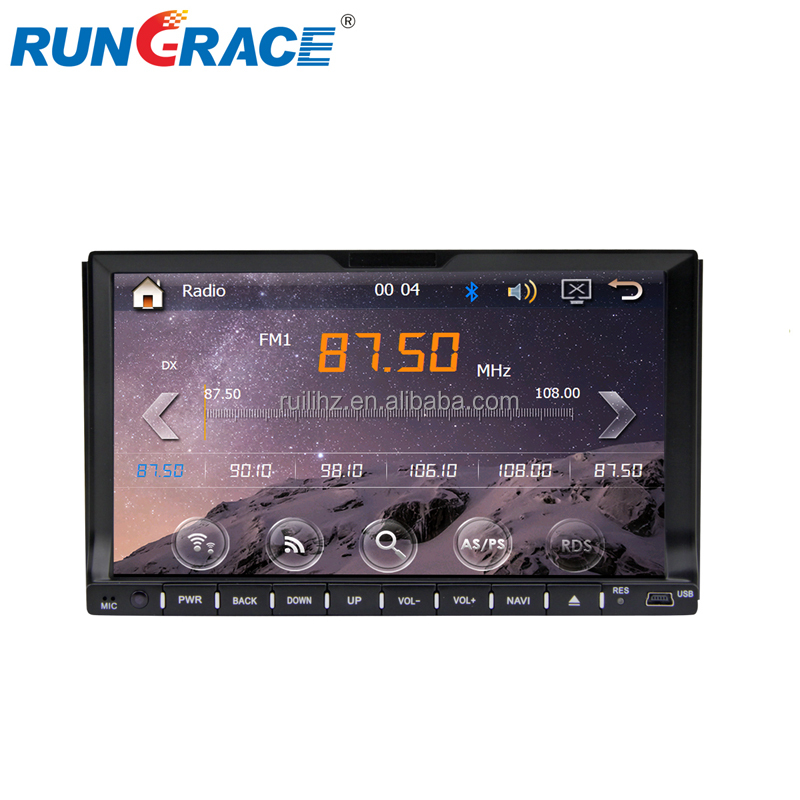 universal dashboard rungrace 7 inch WinCE 6.0 jvc car stereo with bluetooh wifi obd