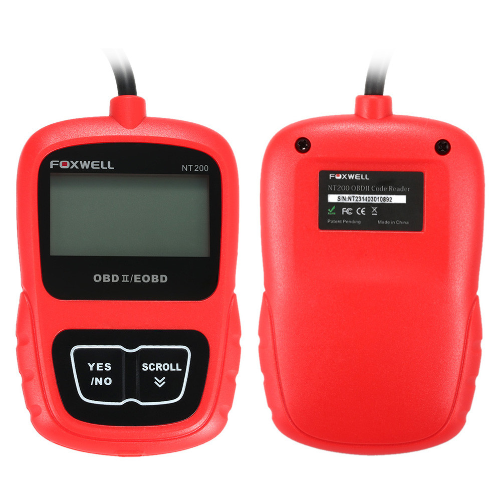 Vehicle Code Reader >> Foxwell Nt200 Obdii Car Multi System Scanner Diagnostic Scan Tool Code Reader For All Cars English German Spanish Buy Foxwell Nt200 Obdii
