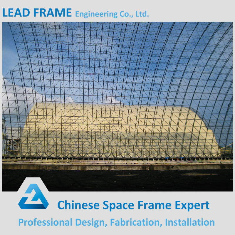 steel truss roof wide span space frame coal storage