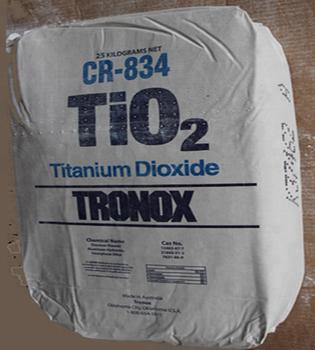 Rutile Grade Tio2 White Powder Titanium Dioxide Pigment For Pvc And  Polyolefin Uses Tronox Cr-834 - Buy Titanium Dioxide Cr-834,Tronox  Tio2,Cr-834