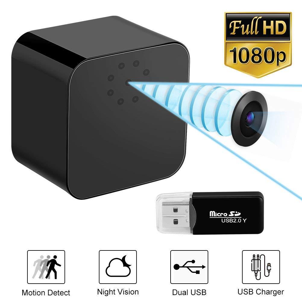 最新隠しスパイミニカメラ 1080 p フル Hd ミニ DV カメラスパイ電話アダプタ壁の充電器小型スパイカム