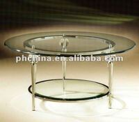VC-4230 Round Clear Acrylic/Perspex Dining /Coffee Table with 3 legs