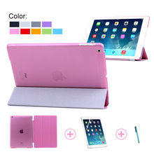 PU leather phone smart cover for ipad air 2 , for ipad air2 smart cover case