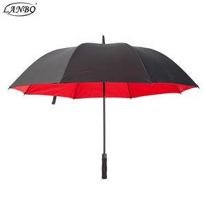 62 Inches Automatic Advertising Bright Color Golf Umbrella Double Canopy