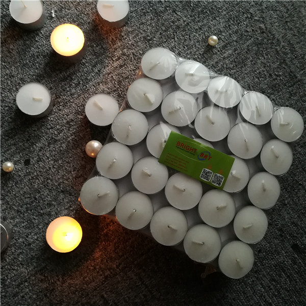 Wedding small unscented white good quality EU standard China tealight candle