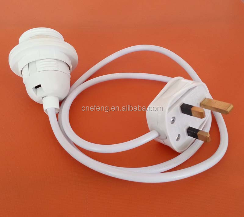 Power Cable Switch Bulb Holder And Us Plug With E14 Lamp