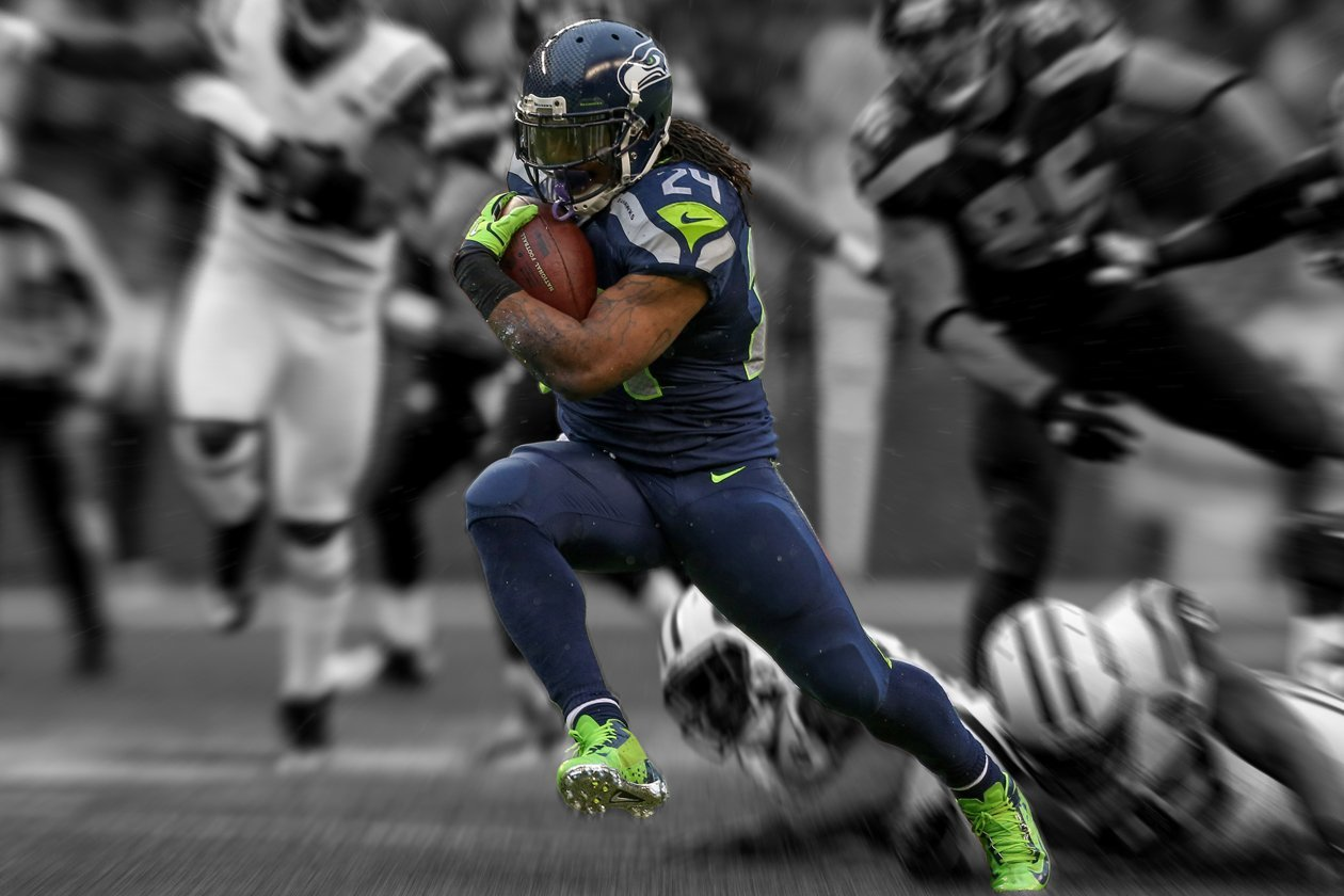 Marshawn Lynch Poster 24x36 inches SEATTLE SEAHAWKS High Quality Gloss Print 101