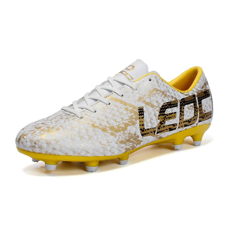 7339a8245d8 Get Quotations · LEOCI Men Boys Kids Soccer Shoes Outdoor Spikes Football  Boots Cleats Children Training Football Boots