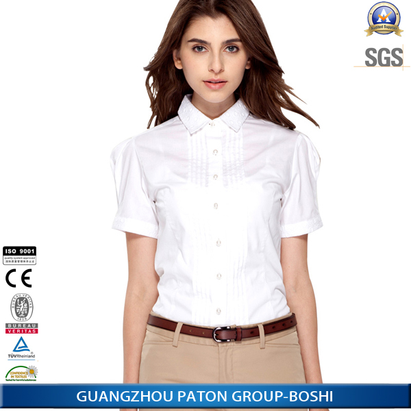 Business Women Wear Blouse Short Sleeve White Blouse Shirt For ...
