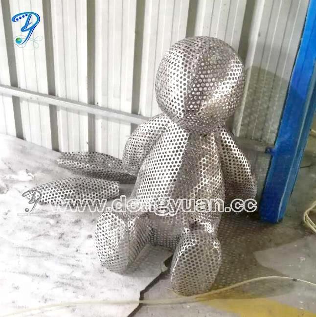 5 Feet Modern Animal Rabbit Metal Sculpture