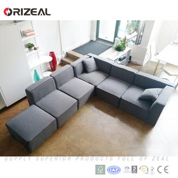 Modern Color Corner Fabric Sofa L