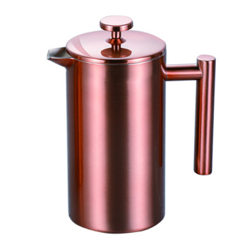 copper color 34oz vacuum insulated double wall stainless steel french press coffee maker 18 10