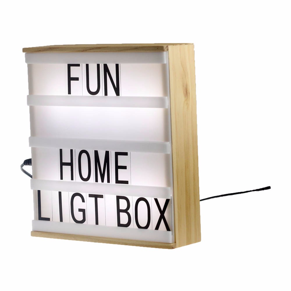 how to build a wooden light box