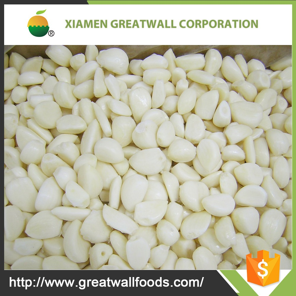 High quality frozen peeled garlic cloves from China