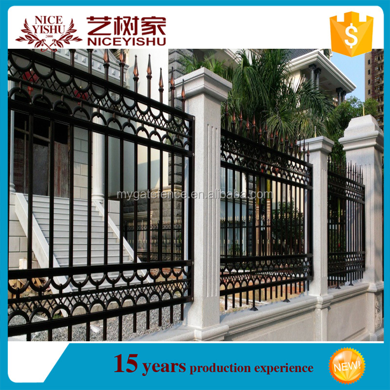 Yishu factory low price aluminum wall fence designs used aluminum fencing for sale