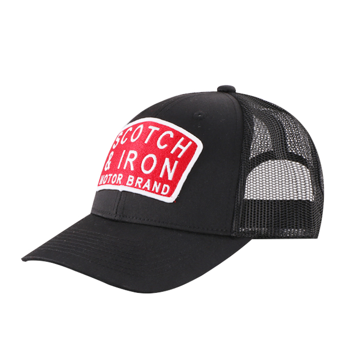 1b9cd54cc0803 Custom Wholesale Printed 6 panel Trucker Mesh Cap Embroidery Patch Mesh  black Trucker Caps