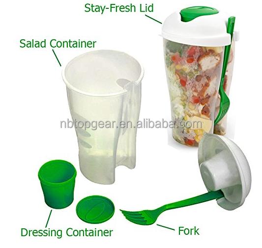 salat kunststoff becher obstsalat mit dressing container. Black Bedroom Furniture Sets. Home Design Ideas