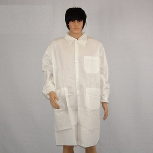 100% polyester plastic custom doctor lab coat
