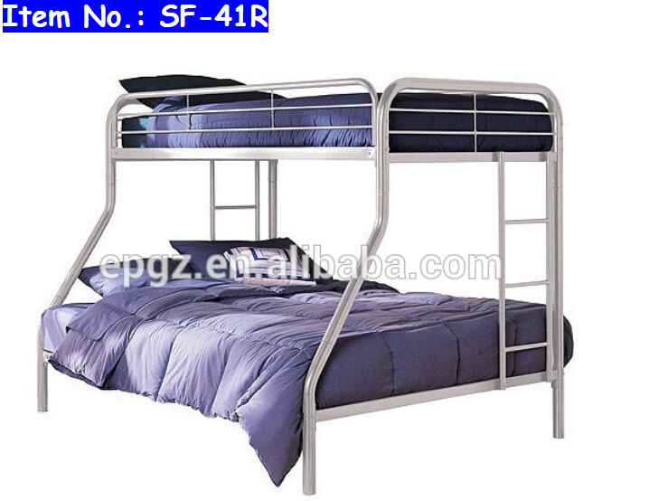 Customized School Furniture Student Powerful Double Deck Bed Heavy Duty Bedroom Furniture Modern Metal Bunk