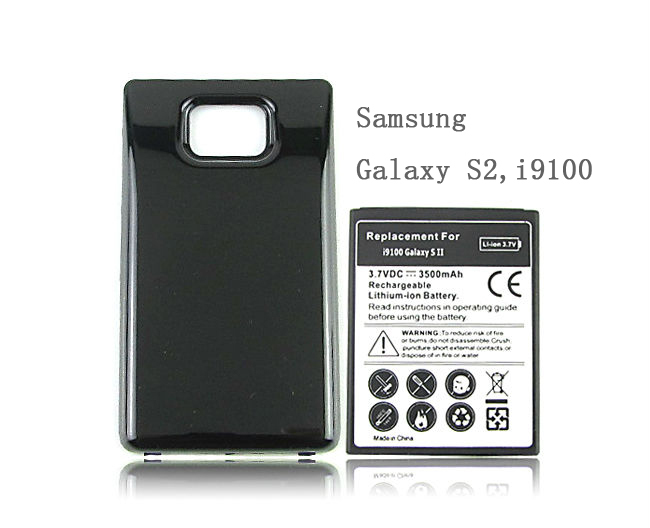 Free-Shipping-For-Samsung-Galaxy-S2-SII-i9100-Battery-Phone-Replacement-Extended-Thicker-3500mah ...