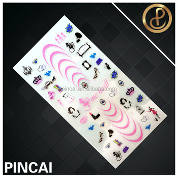 3d Nail Art Stickers Crystal Decals Buy Custom Nail Art Manicure