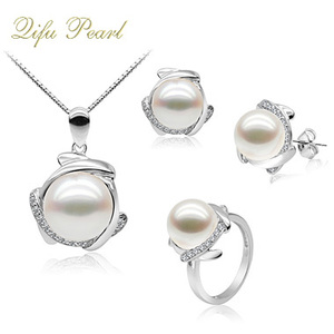 Popular Factory Direct Sale 925 Sterling Silver Pearl jewelry Sets on Hotsale