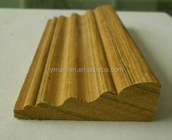 Teak Wood Margin Artificial Wooden Door Casing Baseboard Moulding